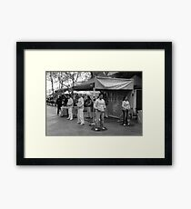 not a ripple on the surface Framed Print