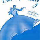 Blue Skirt Waltz (vintage illustration) by ART INSPIRED BY MUSIC