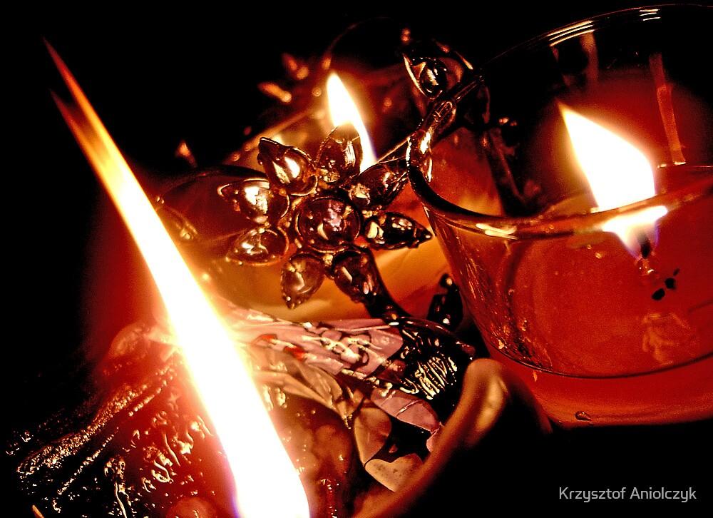 candle fire  by Krzysztof Aniolczyk