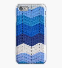 Blue Crocheted Afghan Blanket iPhone Case/Skin