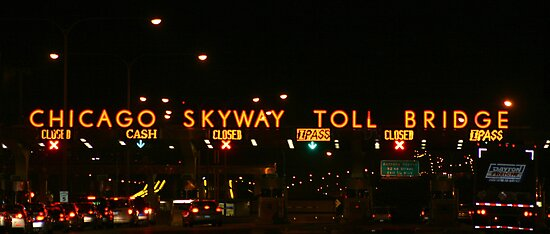 CHICAGO SKYWAY TOLL BRIDGE CHICAGO ILLINOIS OCTOBER 2010 by photographized