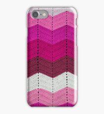 Pink Crocheted Afghan Blanket iPhone Case/Skin
