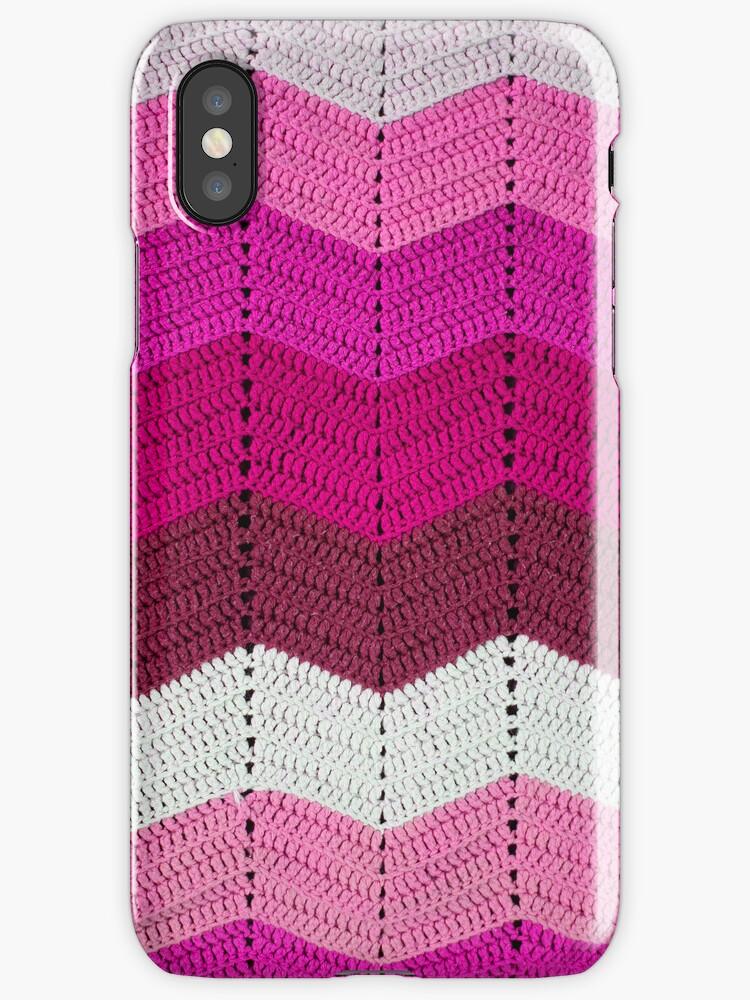Pink Crocheted Afghan Blanket by GreenSpeed
