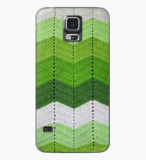 Green Crocheted Afghan Blanket Case/Skin for Samsung Galaxy