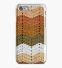 Orange Crocheted Afghan Blanket iPhone Case/Skin