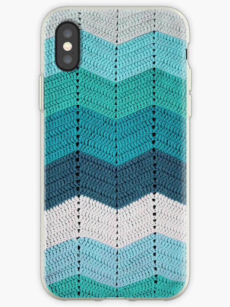 Teal Crocheted Afghan Blanket by GreenSpeed