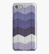 Purple Crocheted Afghan Blanket iPhone Case/Skin