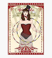 Roselle the hoop dancer Photographic Print