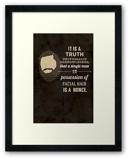 A beardy truth by SixPixeldesign