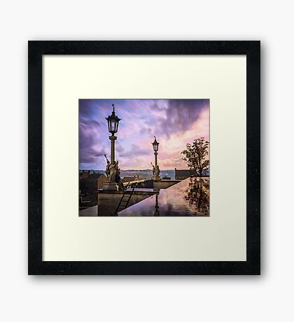 View from Capitol in Nashville, Tennessee, during the Civil War 1864 Framed Print
