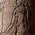 Frieze at Kom Ombo Temple Egypt by renprovo