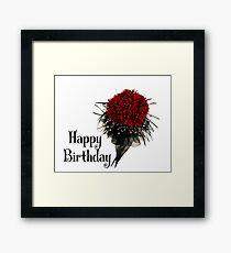 Happy Birthday - Flower Framed Print