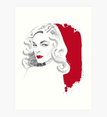 Whistle blonde Art Print