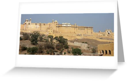 Amber Fort near Jaipur India by renprovo