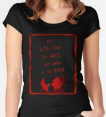 Way Down in the Hole Women's Fitted Scoop T-Shirt