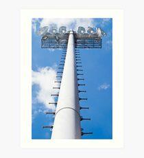 Vertical Stadium Floodlight Tower Art Print
