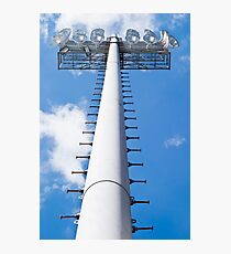 Vertical Stadium Floodlight Tower Photographic Print