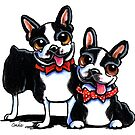 Merry Gentlemen | Boston Terriers by offleashart