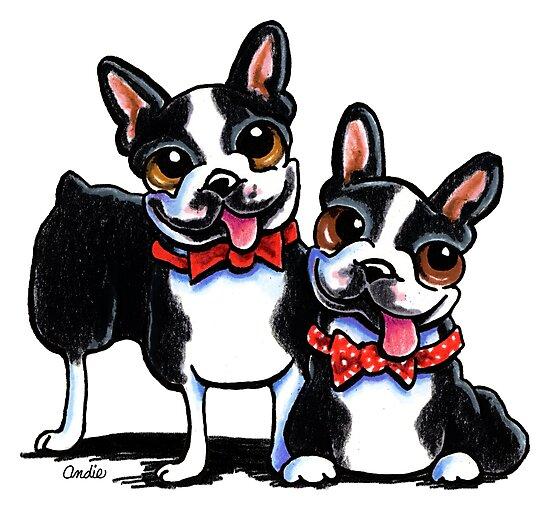 Merry Gentlemen | Boston Terriers by offleashart