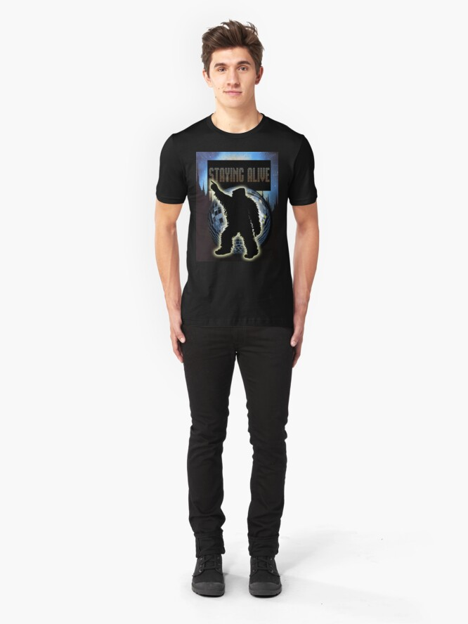 Alternate view of STAYING ALIVE! Slim Fit T-Shirt