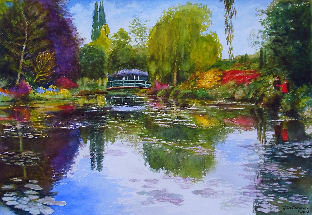 Wisteria Bridge at Giverny France by Dai Wynn