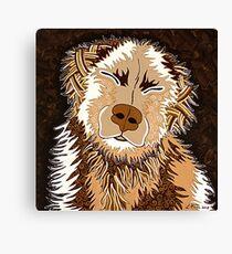 SEPIA DOG Canvas Print