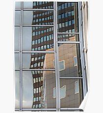 Reflection in skyscraper windows Poster