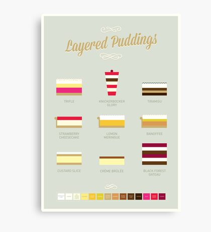 Layered Puddings Canvas Print