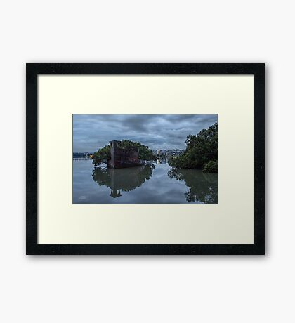 Grey Stillness Framed Print