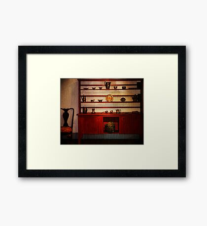 Pewter Hutch Gomez Mill House Framed Print