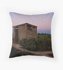 Out-house in the out-back Throw Pillow