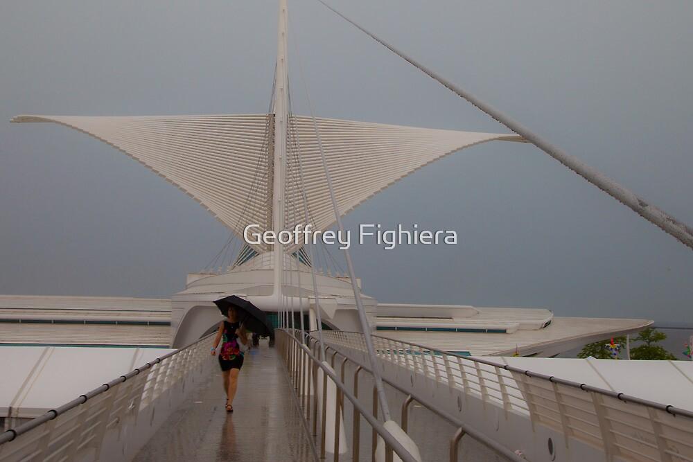 Walking in the rain by Geoffrey Fighiera