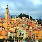Menton village, south of France by gianliguori