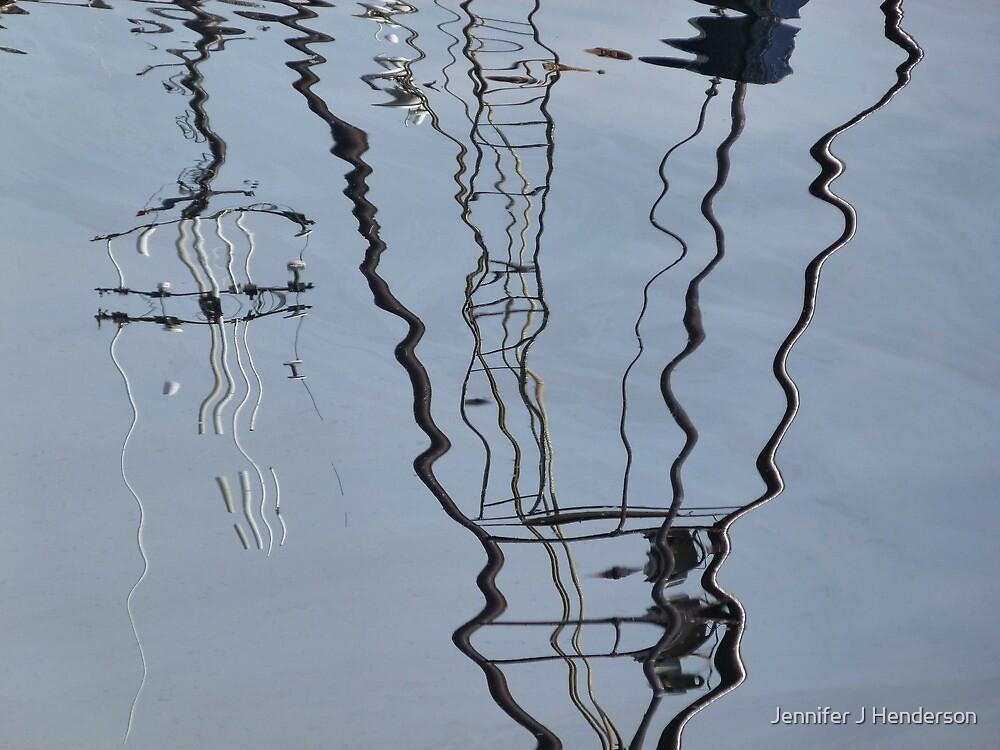 Harbour reflections 1 by Jennifer J Watson