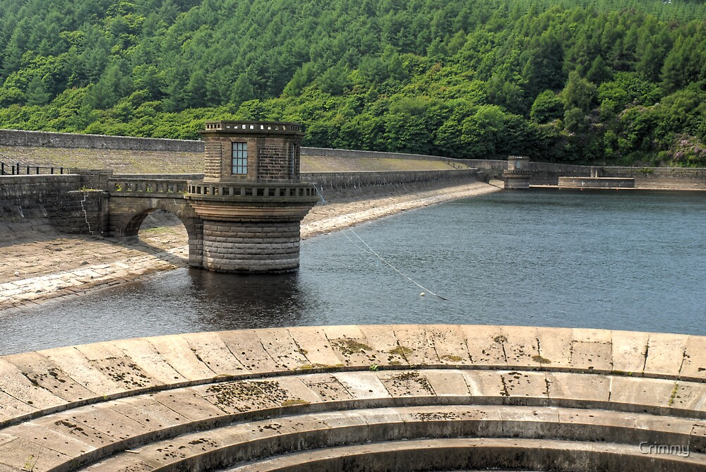 The Dam by Ladybower reservoir by Crimmy