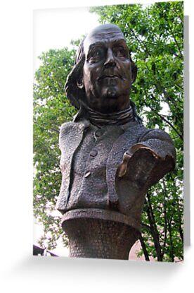 Benjamin Franklin Keys Bust in Philly by renprovo