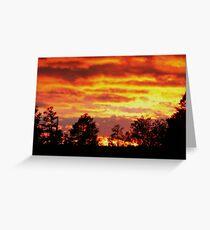 Flaming Sunset Greeting Card