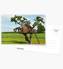 Beautiful creative tree house Postcards