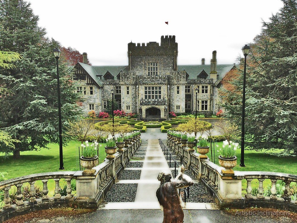 Hatley Castle - Rainy Day by Artistic Inclinations