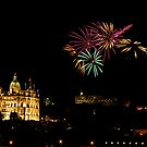 Edinburgh Castle Fireworks by Stuart Robertson Reynolds