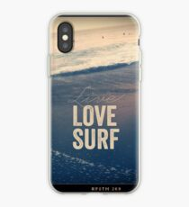 Live, Love, Surf iPhone Case