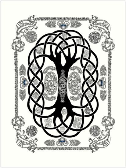 Yggdrasil Tatouage Impressions Artistiques Par Kfedukowski