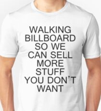 Walking Billboard Unisex T-Shirt