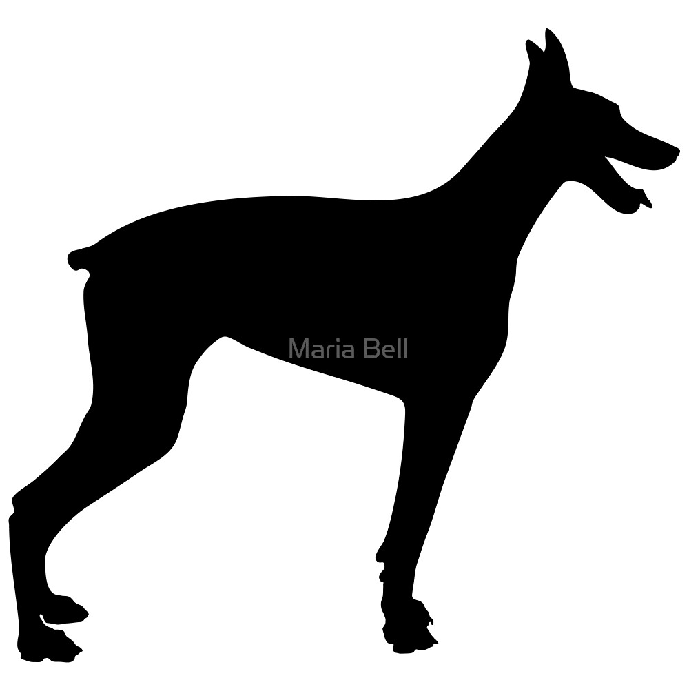 Doberman Silhouette 2 by Maria Bell