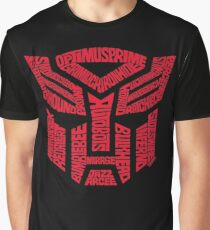 Transformers Autobots Red Graphic T-Shirt