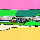 Beach Huts  by yobund