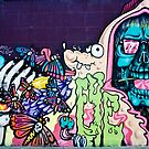 Jolly Hallucinogenic 1969 Graffiti with a Skull and the Others by yurix