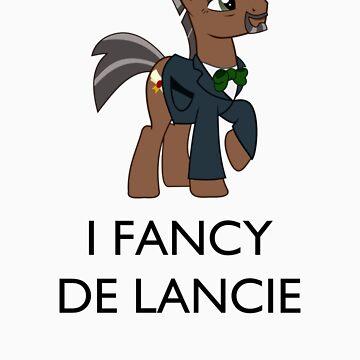 I Fancy De Lancie (Black Text) by womble2113