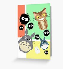 Totoro And Friends Greeting Card