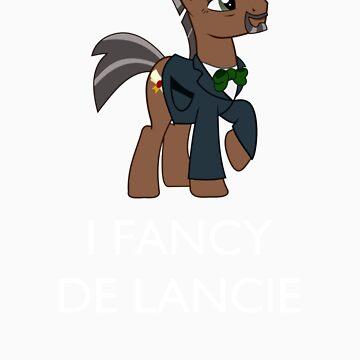 I Fancy De Lancie (White Text) by womble2113